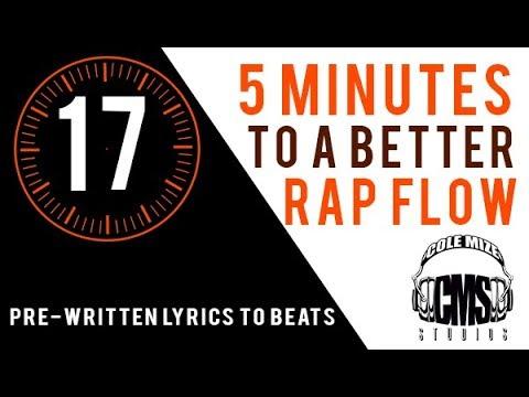 Pre-Written Lyrics To Beats - 5 Minutes To A Better Rap Flow - ColeMizeStudios.com