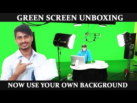 Green Screen Unboxing, Setup & Test | [Hindi-हिन्दी]