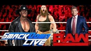EXPOSED WWE NEWS RAW vs SMACKDOWN 2017 Mr. McMahon, The Undertaker vs Braun Strowman