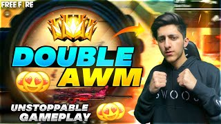 A_S Gaming Double AWM Unstoppable Gameplay In Ranked Match - Garena Free Fire