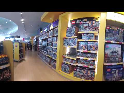 Lego shop at Legoland, Germany. 360 4K.