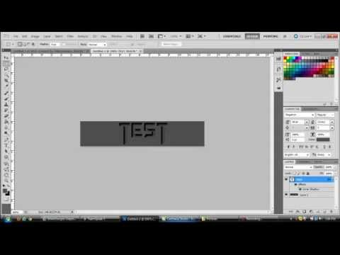 Photoshop Tutorial #1 How to create Inverse Text