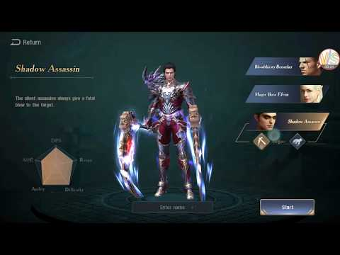 Blade Reborn Beta Heroes Preview on Character Selection Screen