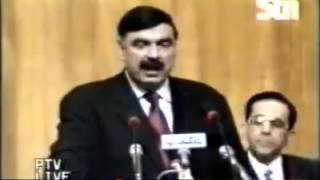 Blasts From The Past  Sheikh Rasheed Highly Praising Nawaz Sharif on His Face