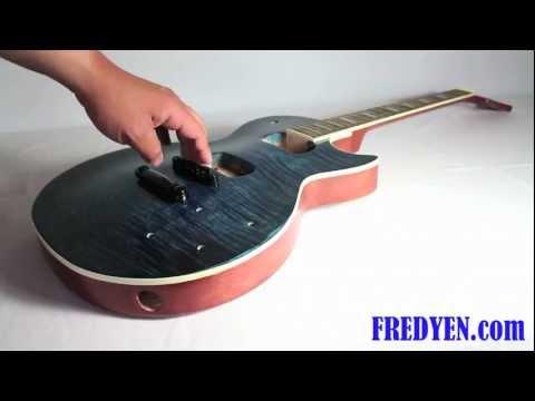 DIY Les Paul Guitar Kit (Part 5: Installing Guitar Bridge)