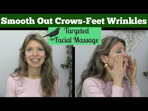 Get Rid of Crows Feet Eye Wrinkles with Targeted Facial Massage | Anti-Aging Beauty Treatment