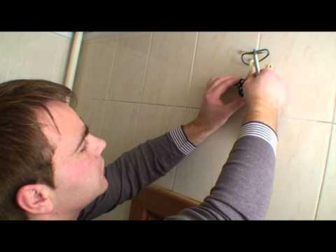 Fan installation in a bathroom