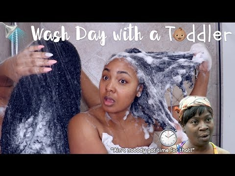 WASH DAY ROUTINE with a TODDLER | NATURAL HAIR