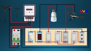 Download ELECTRICAL SWITCH BOARD WIRING DIAGRAM ! DIY HOUSE WIRING Video