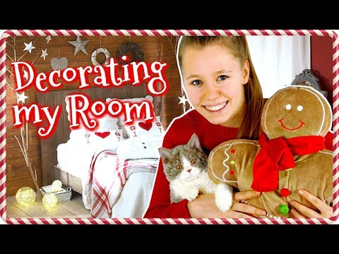 HUGE CHRISTMAS ROOM MAKEOVER 2017 (with my cat!) 🎄DECORATING MY ROOM FOR CHRISTMAS