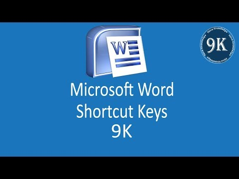 shortcut key of MS Word by nine knowledge