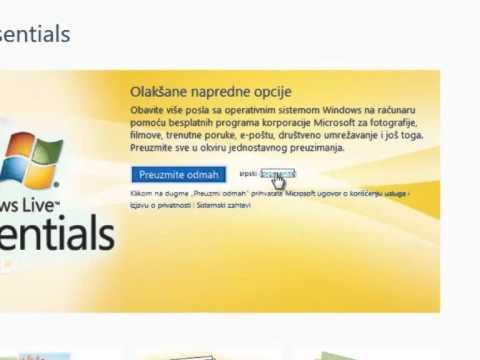 Instalacija Windows Live Essentials 2011