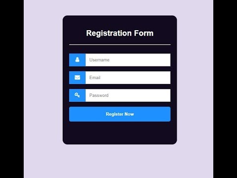 Responsive registration form with html and css