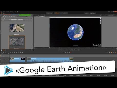 Pinnacle Studio 20 Deutsch Google Earth Animation Weltkugel Video Tutorial