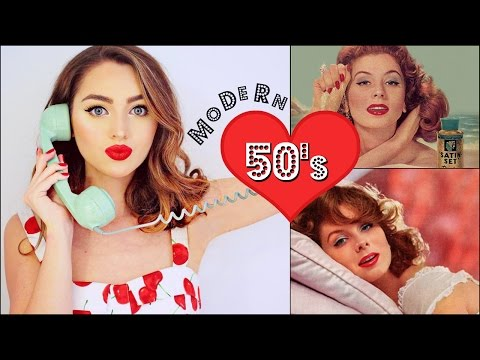 Classy 50's Makeup & Hair Tutorial + Modern Selfie Tips! Vintage Beauty