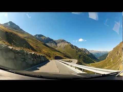 Breathtaking Road Through Stelvio Pass (Eastern Alps), Italy-Switzerland-Italy.