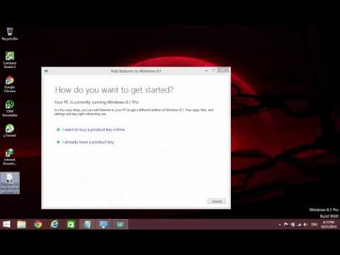 window 8.1 pro with media center build 9600 product key