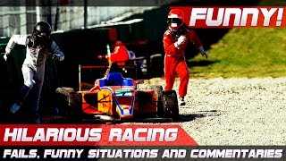 HILARIOUS RACING! Best of Fails, Funny Situations and Commentaries of 2016 Compilation