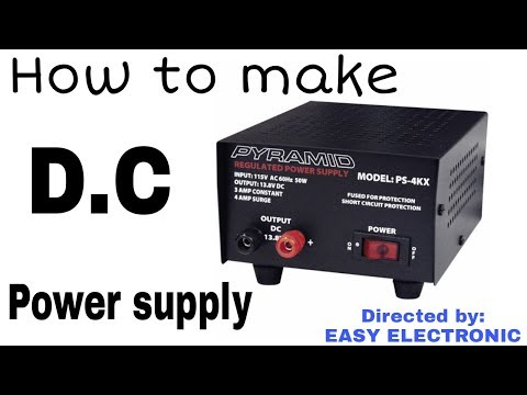 How to make a variable D.C Power supply