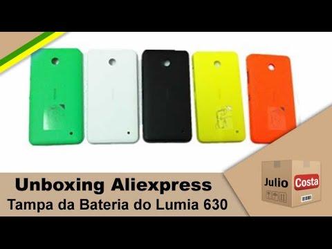Unboxing Aliexpress - Tampa da Bateria do Nokia 630