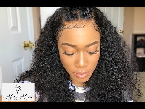 HER HAIR COMPANY BRAZILIAN CURLY - CUSTOMIZE AND MAKE A LACE FRONTAL WIG