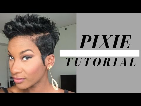 FLIPS AND SPIKES PIXIE TUTORIAL  2017 | SHORT HAIR STYLES FOR BLACK WOMEN