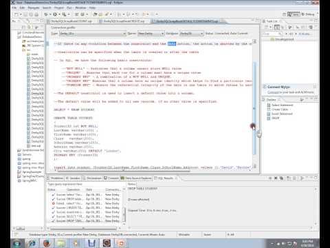 SQL QUERY DEFAULT CONSTRAINTS