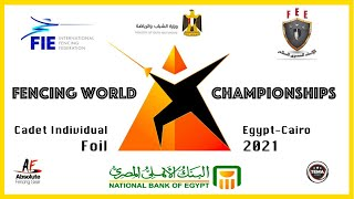 Fencing World Championships Egypt Cairo 2021 - Cadet Individual Foil Piste Yellow