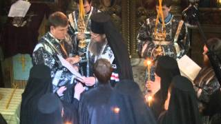 Монашеский постриг в Елецкой епархии