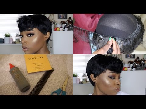 D.I.Y : HOW TO MAKE A PIXIE WIG EASY STEPS | NIA LONG 90'S INSPIRED LOOK WOC