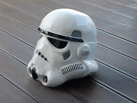 Star Wars, rogue one, making Stormtrooper Helmet, selber bauen, Pepakura / Pepacraft, 66target