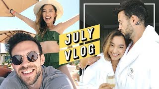 Our Romantic Anniversary Getaway 💘 | July Outfit Diary