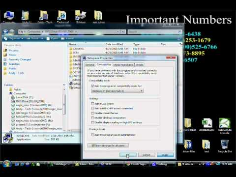 Install and Run Older Software on Vista or Windows 7 -