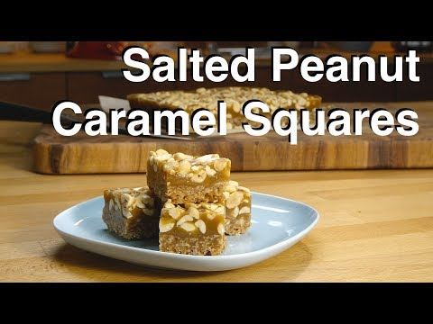 Salted Peanut Caramel Squares    Le Gourmet TV Recipes