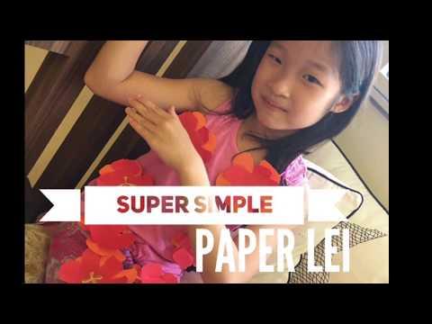 Super simple DIY Hawaiian lei - Just paper, string & glue