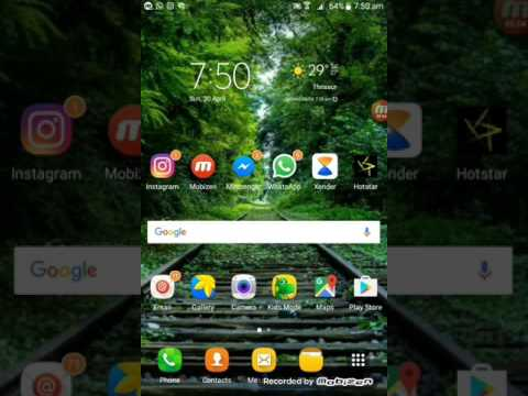  How to put the google bar back on Samsung Galaxy jmax 