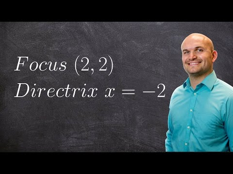 Fiinding the standard form of a parabola given focus and directrix