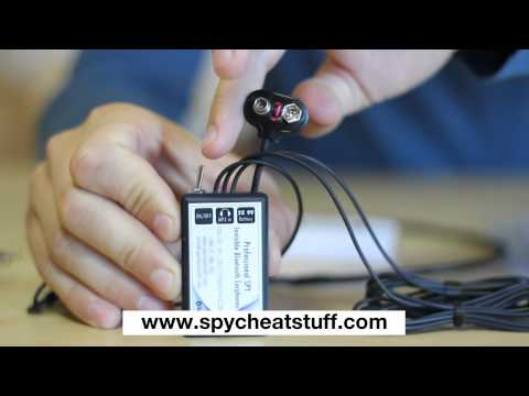 The Invisible Bluetooth Earpiece + Signal Button SPY Kit for Students NEW TECHNOLOGY!