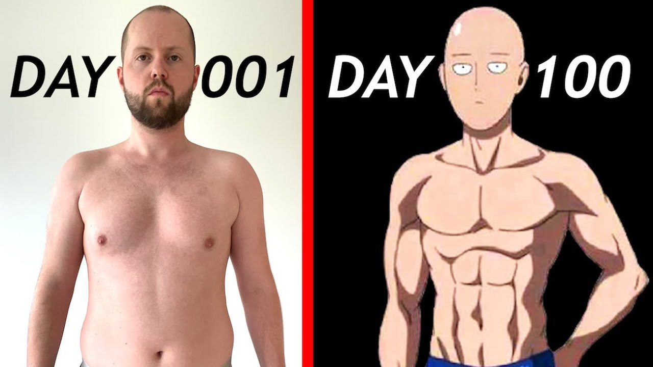100 Days of One Punch Man Workout | Transformation Results