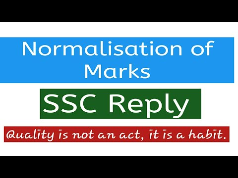 Normalisation of Marks/SSC Reply/In Hindi