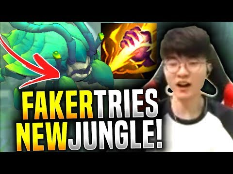 Faker Learning How to Play in the New Jungle! - SKT T1 Faker Picks Camille Jungle! | SKT T1 Replays