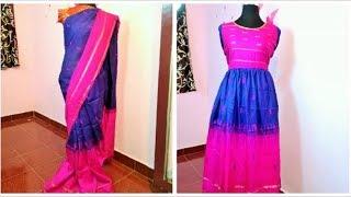 Convert Old Saree Into Long Gown Dress Videos Ytubetv