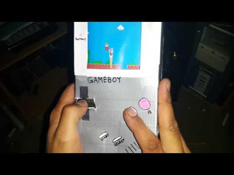 Cardboard Gameboy - Super Mario bros level 1