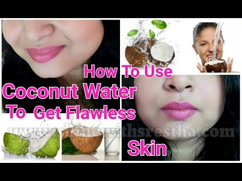 How To Use COCONUT WATER To Get FLAWLESS, Glowing, Fairer, Clear, Youthful Skin | Spotless Skin Fast