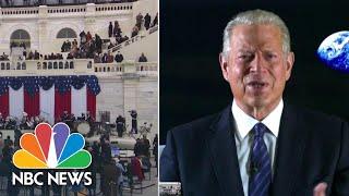 Al Gore Speaks About Biden Inauguration, Presiding Over 2000 Election Vote Certification   NBC News
