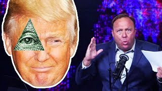 Alex Jones DESPERATELY Tries To Prove Trump Isn't Illuminati