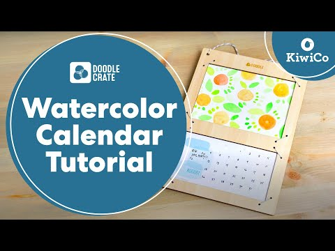 Paint A Watercolor Calendar - Doodle Crate Project
