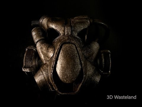 Fallout 4 X-01 power armor helmet : making of