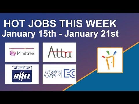 Freshersworld Hot Jobs Of The Week-(Jan 15th–Jan 21st) – ECIL, BHEL, Mindtree, Attra Infotech
