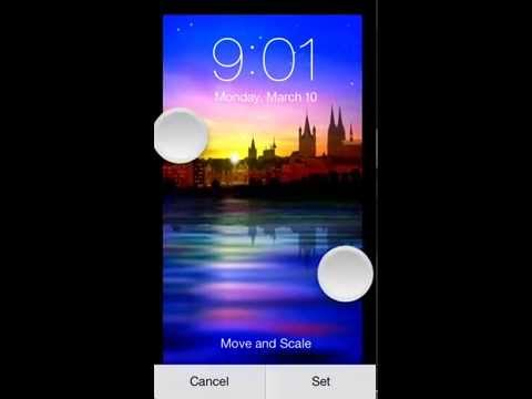 Set wallpaper on iOS 7 Lock/Home screen with picture's actual Size.
